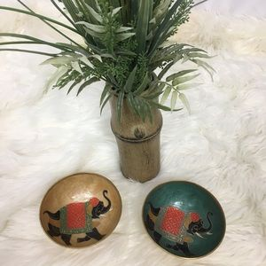 Elephant gold metal table bowls